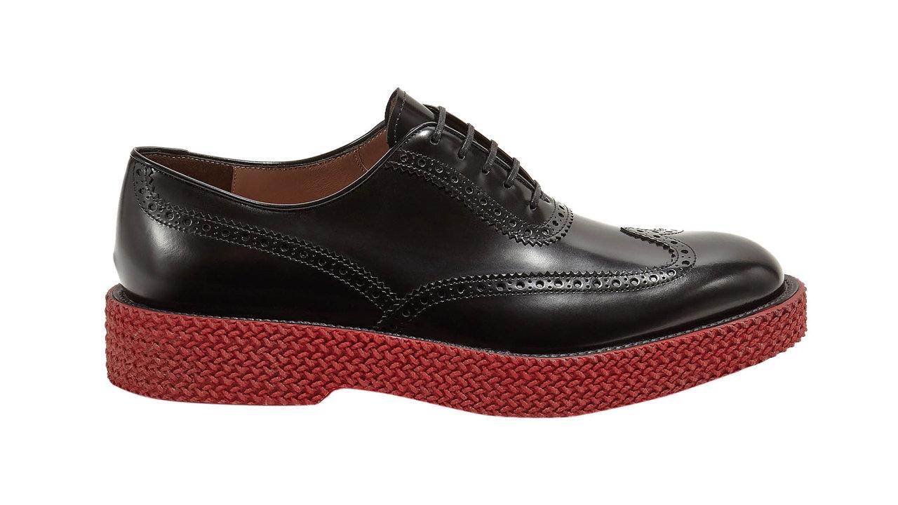 Nová řada Hybrid sevymyká stanoveným kategoriím pánské obuvi. Amá šmrnc. Kombinuje prvky 21. století sklasickým formálním stylem. Zdobené derby boty tak doplňuje výrazná červená podrážka. Info oceně vbutiku, prodává SALVATO...