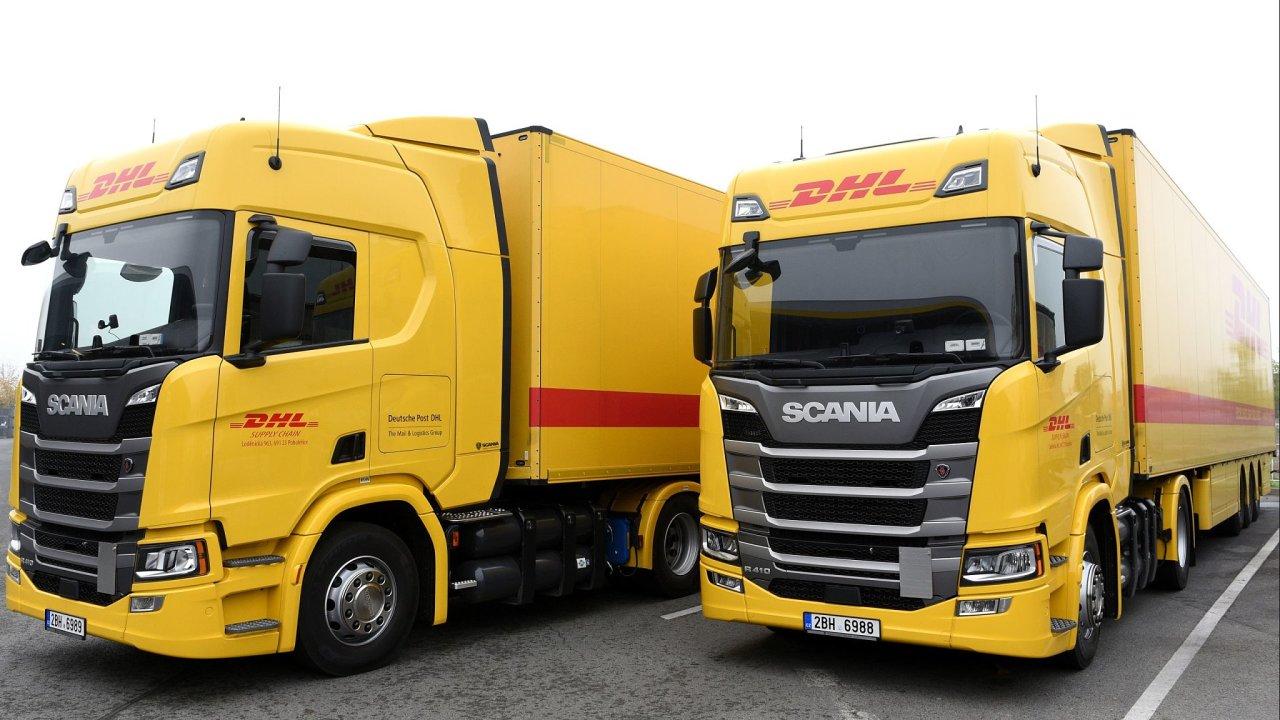 DHL využívá dva kamiony na CNG.