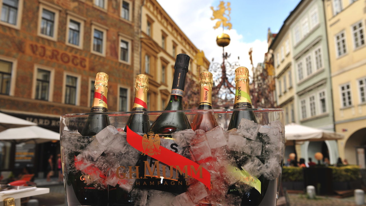 Mumm pop-up v centru Prahy