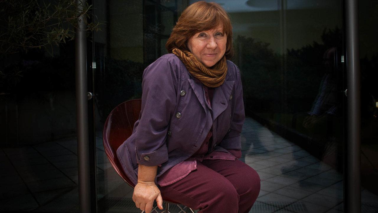 Běloruská držitelka Nobelovy ceny zaliteraturu Světlana Alexijevičová.