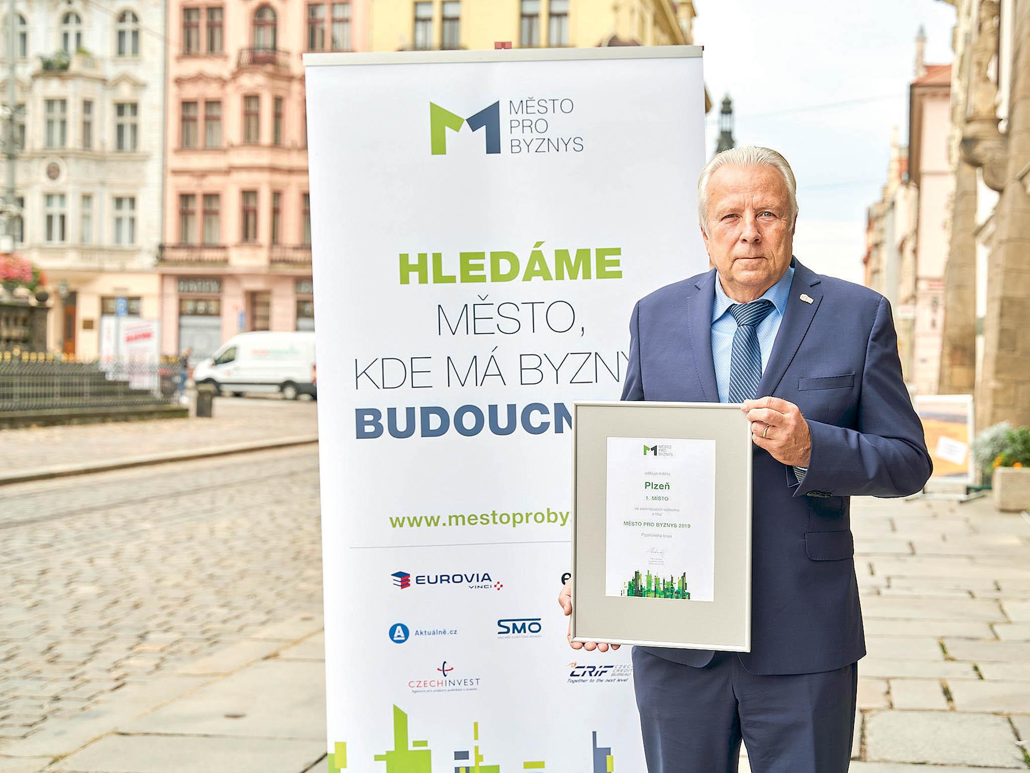 """""""Plzeň je přirozeným centrem podnikatelského života vkraji,"""" říkáVlastimil Gola, radní pro smart city apodporu podnikání města Plzně."""