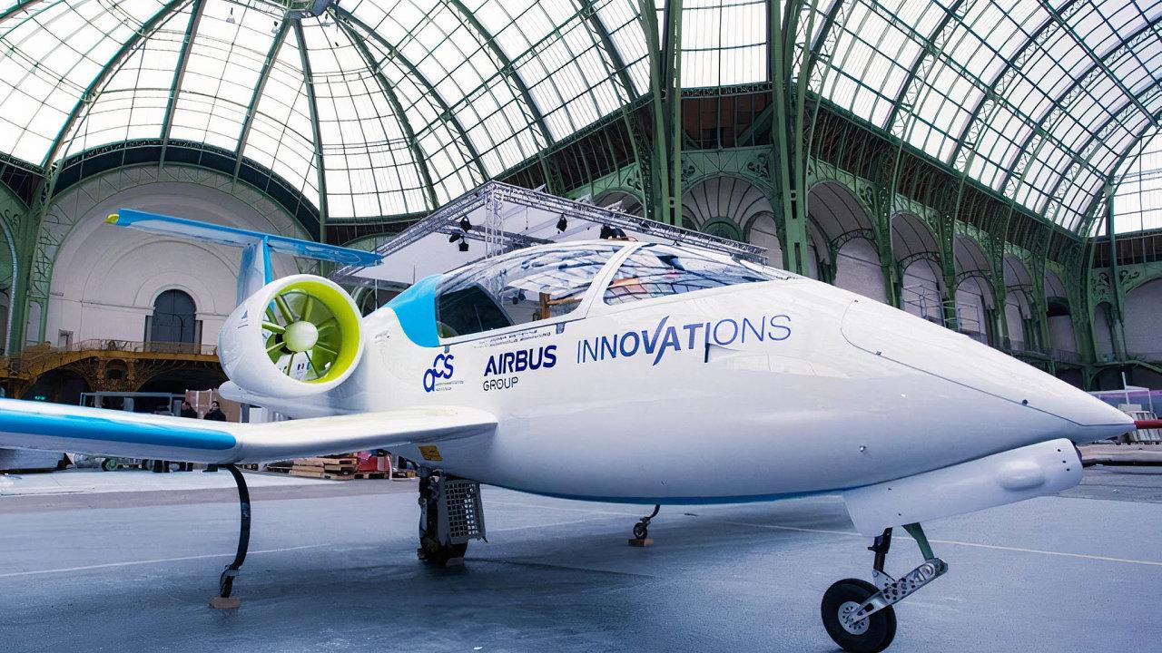 Jeden zelektrických projektů, pro něž dodávala pohon zlínská MGM Compro: Airbus E-fan.